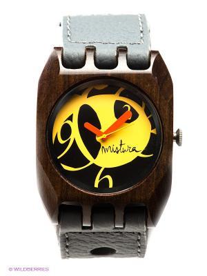 Часы Mistura Volkano Grey Pui Yellow. Цвет: серый, желтый, коричневый