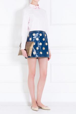 Кожаная юбка Marc Jacobs. Цвет: синий