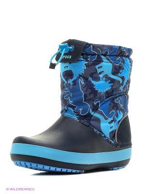 Сапоги CROCS. Цвет: голубой, темно-синий