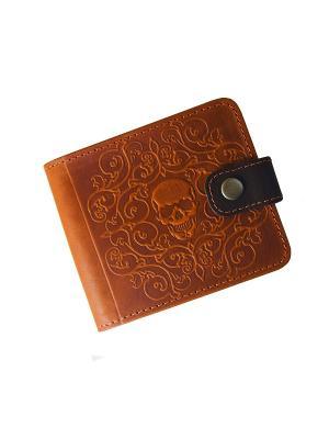 Портмоне с RFID защитой - против краж Кажан. Цвет: светло-коричневый