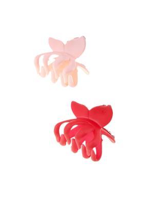 Заколка-краб (2 шт.) Happy Charms Family. Цвет: розовый, красный