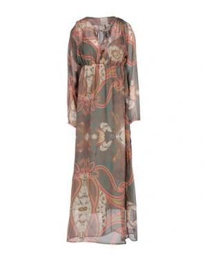 Длинное платье PINK MEMORIES. Цвет: зеленый