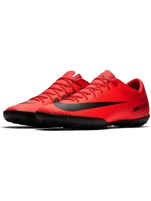 Бутсы MERCURIALX VICTORY VI TF Nike. Цвет: красный, бордовый, черный