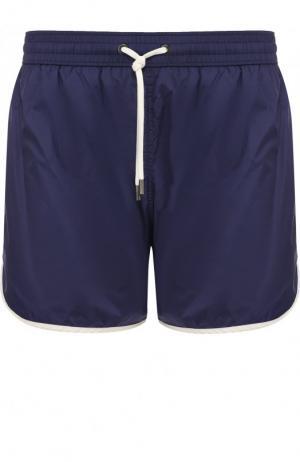 Плавки-шорты с карманами Ermenegildo Zegna. Цвет: синий