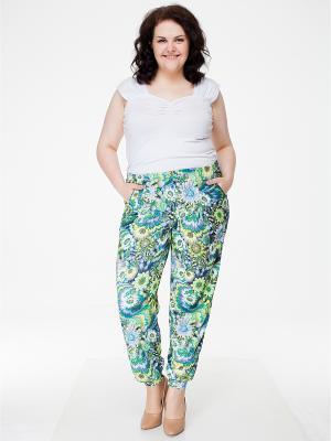 Брюки Pretty Woman. Цвет: бирюзовый, светло-зеленый, голубой, светло-желтый