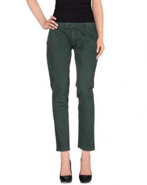 Повседневные брюки DUCK FARM. Цвет: зеленый