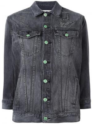 Джинсовая куртка Sandrine Rose. Цвет: серый
