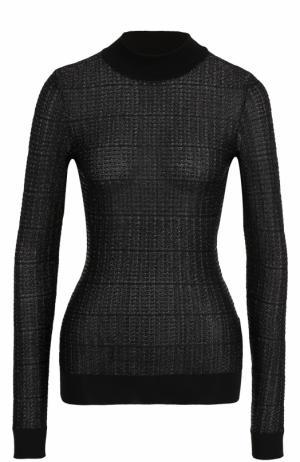 Облегающий пуловер с круглым вырезом Roland Mouret. Цвет: черный