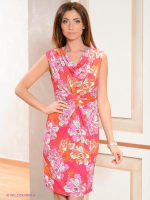 Платье Elegance. Цвет: розовый, серый, сиреневый