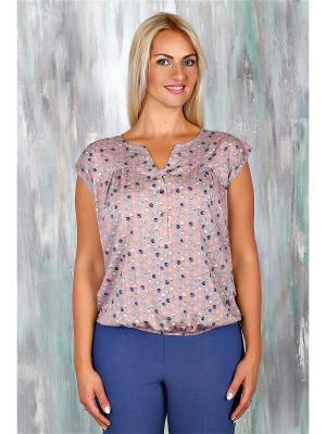 Блузка AVILA. Цвет: бежевый, розовый