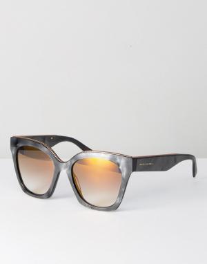 Marc Jacobs Серые солнцезащитные очки кошачий глаз 1862/S. Цвет: серый