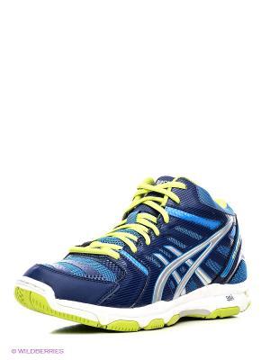 Волейбольные кроссовки Gel-Beyond 4 Mt ASICS. Цвет: синий, желтый, темно-синий