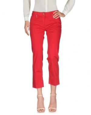 Повседневные брюки HENRY COTTON'S. Цвет: красный