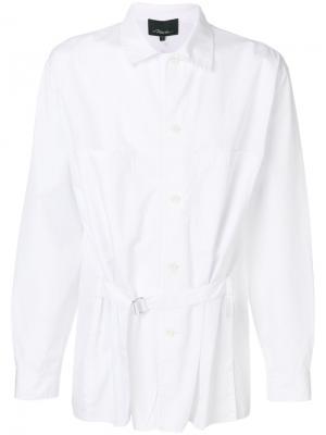 Свободная рубашка с поясом 3.1 Phillip Lim. Цвет: белый