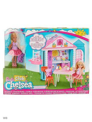 Домик Челси Barbie. Цвет: голубой, розовый