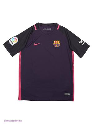 Футболка FCB YTH SS AW STADIUM JSY Nike. Цвет: фиолетовый