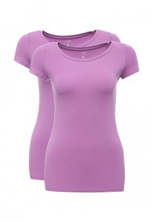 Комплект футболок 2 шт. oodji. Цвет: фиолетовый
