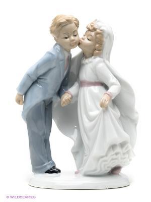 Фигурка Торжественный поцелуй Pavone. Цвет: голубой, белый, светло-бежевый, розовый