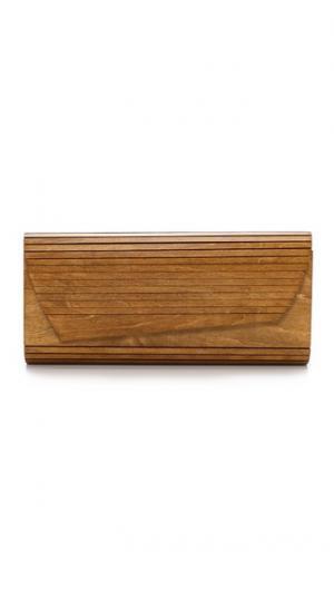 Клатч Zena с деревянной вставкой Inge Christopher