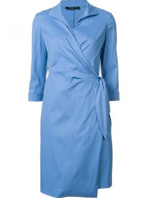 Платье с запахом Lafayette 148. Цвет: синий