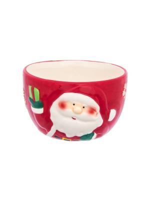 Салатник Дед Мороз Elan Gallery. Цвет: красный, белый, зеленый