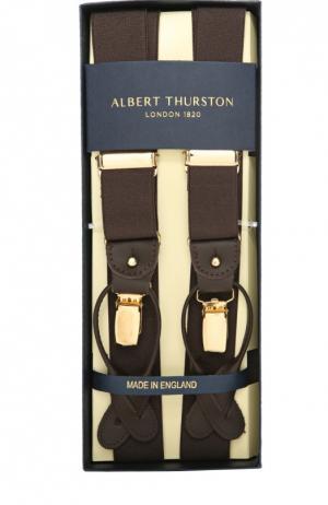 Подтяжки Albert Thurston. Цвет: коричневый