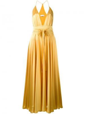 Платье Bianca Racil. Цвет: жёлтый и оранжевый