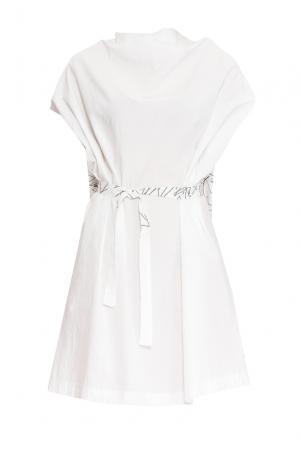 Платье из хлопка с поясом 161060 Un-namable. Цвет: белый