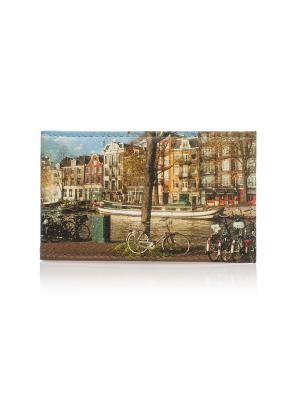 Визитница Амстердам Eshemoda. Цвет: коричневый