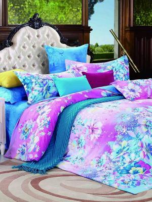 Комплект постельного белья Dream time. Цвет: розовый, белый, синий, морская волна, голубой