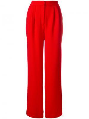 Расклешенные брюки с высокой талией Essentiel Antwerp. Цвет: красный