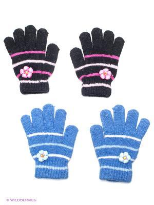 Перчатки 2 пары FOMAS. Цвет: черный, синий, розовый, белый