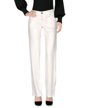 Повседневные брюки NOLITA. Цвет: слоновая кость
