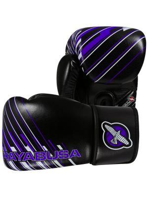 Перчатки боксерские Hayabusa Ikusa Charged 10oz Gloves-Black/Purple. Цвет: черный, фиолетовый