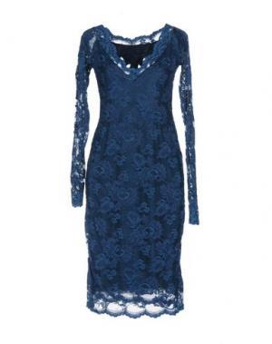 Платье до колена BALENSI. Цвет: синий