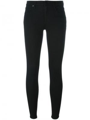 Укороченные джинсы кроя скинни Alexander Wang. Цвет: чёрный