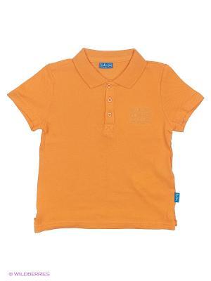 Поло Button Blue. Цвет: оранжевый