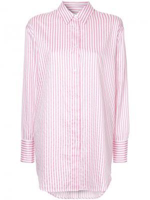 Рубашка в полоску Saxa Mads Nørgaard. Цвет: розовый и фиолетовый