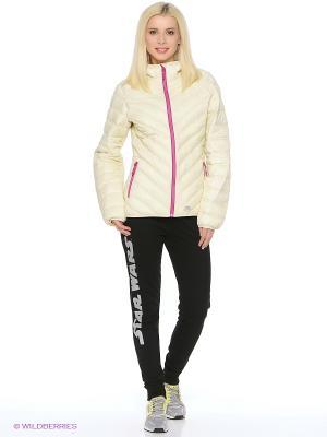 Куртка демисезонная Trespass. Цвет: кремовый, бледно-розовый, персиковый