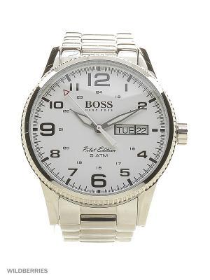 Часы HUGO BOSS. Цвет: серебристый