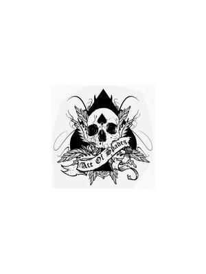 Временная переводная татуировка Ace of spades МнеТату. Цвет: черный