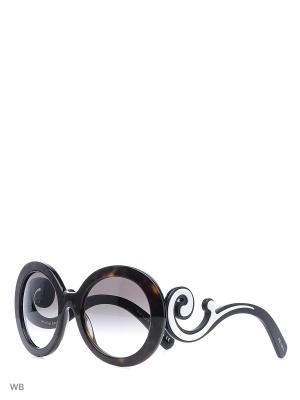 Очки солнцезащитные PRADA. Цвет: коричневый, черный