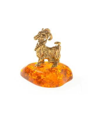 Фигура Козочка с бусами Aztek. Цвет: желтый, коричневый, светло-оранжевый