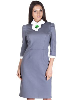 Платье OLIVEGREY. Цвет: серый, белый