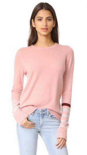 Кашемировый свитер с эффектными рукавами FREECITY. Цвет: волшебный лепесток чая