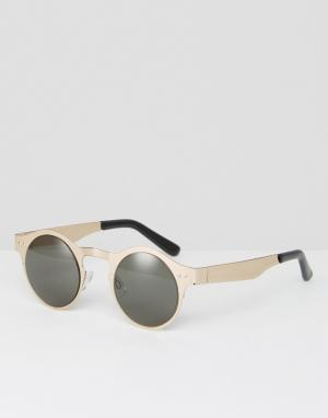 Spitfire Серебристо-черные круглые солнцезащитные очки. Цвет: серебряный