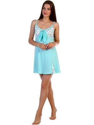 Ночная сорочка Соцветие Vilana. Цвет: салатовый