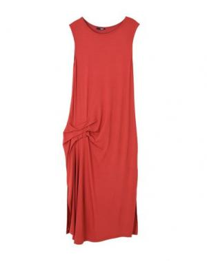 Платье длиной 3/4 B.YU. Цвет: красный
