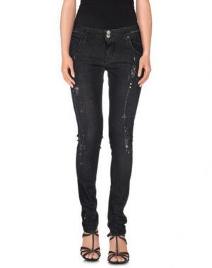 Джинсовые брюки FANNY COUTURE. Цвет: черный