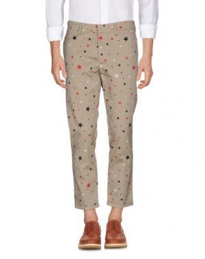 Повседневные брюки THE EDITOR. Цвет: песочный